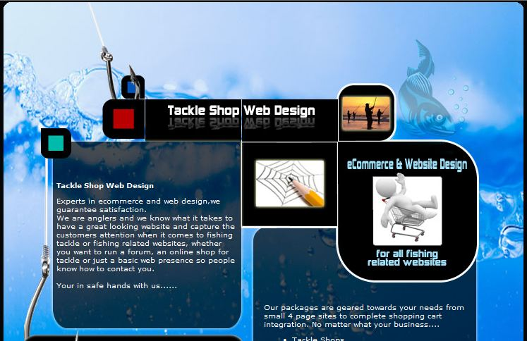 Tackle Shop Web Design