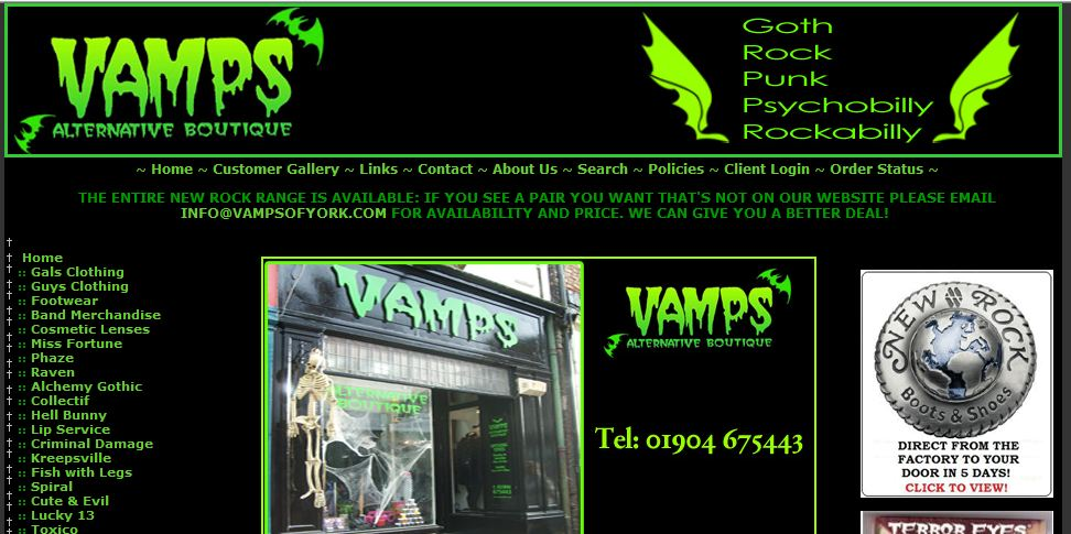 Vamps of York/York Shop of Horrors